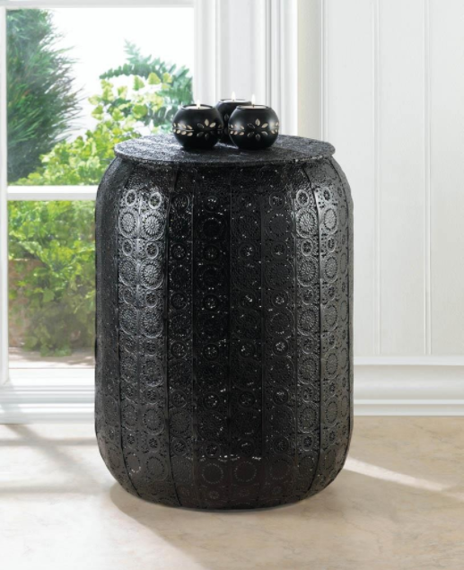 Midnight Moroccan Iron Stool | HowWeBuyBlack.com