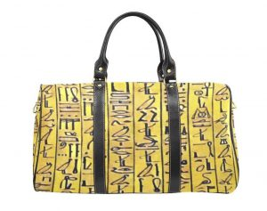 Chocolate bag, bags, purse, purses, Egyptian Hieroglyphs