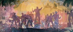 From Slavery Through Reconstruction, Aaron Douglas, Black art, Black artist, Black artists, Black painter, Black painters, Black History, Black History 365, DDH: Daily Dose of History