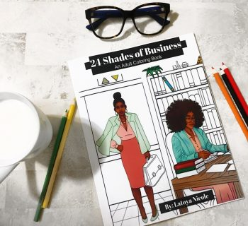 24 Shades of Business, Black-owned business, Black-owned coloring books, Black coloring books, adult coloring books