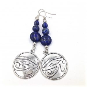 healing gems, ancient Egypt, Kemet, Lapis Lazuli, Black Panther, 7 chakras, earrings