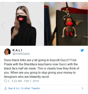 Black History Month, Buy Black Movement, We Buy Black, blackface, Boycott Gucci,
